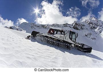 機器, ratrak, 雪運載工具, 修飾, 特別