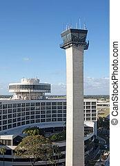 機場, 塔, 控制