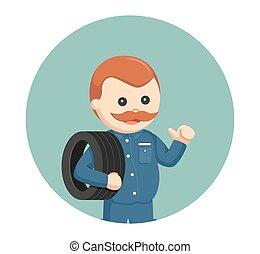 機械工, 円, 脂肪, タイヤ, 背景