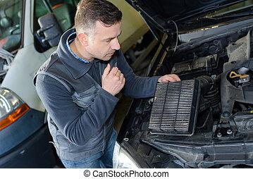 機械工, 変化する, 自動車, 空気, フィルター