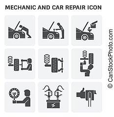機械工, 自動車, アイコン