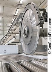 機械類, 生産, 切断, 大きい, 量, の, 肉