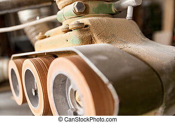 機械類, woodworker, ワークショップ, 細部, 車輪