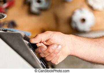 機械, さしもの細工, ワークショップ, 切換え