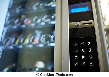 機械, オペレーション, パネル, 販売, キーボード