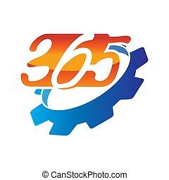 機械, ギヤ, アイコン, ロゴ, デザイン, 無限点, イラスト, 365, ベクトル
