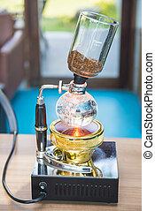 機械, コーヒーを作ること, syphon