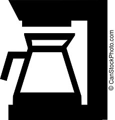 機械, コーヒー, アイコン