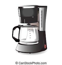 機械, コーヒー, espresso., ベクトル, イラスト