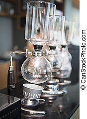 機械, コーヒー, syphon