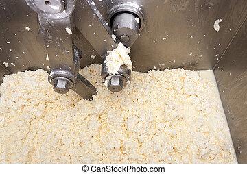 機械, チーズ, 生産