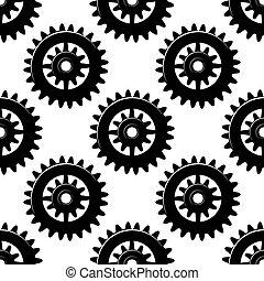 機械, パターン, ピニオン, seamless, ギヤ