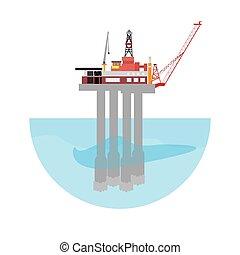 機械, プラットホーム, 油田採掘