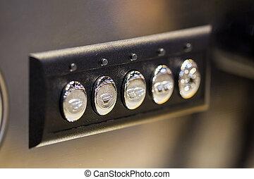 機械, ボタン, クローズアップ, コーヒー