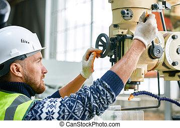 機械, 使うこと, ユニット, 労働者, 工場