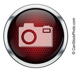 機械, 写真, ハチの巣, 赤, アイコン