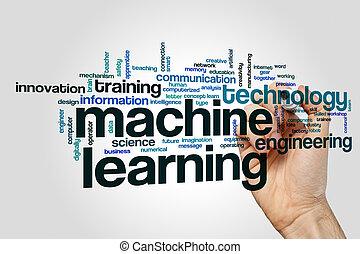機械, 単語, 勉強, 雲