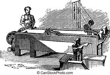 機械, 彫版, 型, spinneret