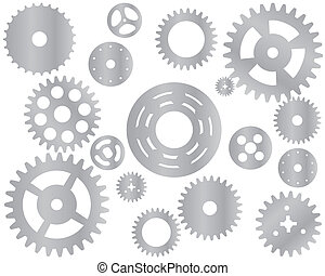 機械, 車輪, はめば歯車, ベクトル, ギヤ