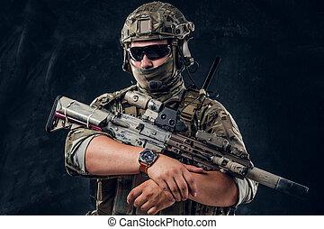機械, 軍, 人, 銃, ユニフォーム