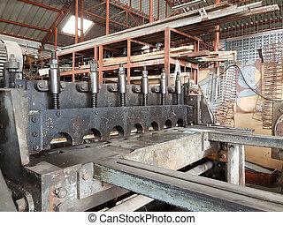 機械, 金属, 切断, シート, 工場