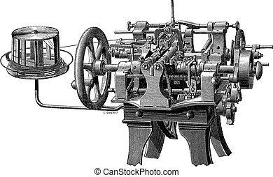 機械, carding, 彫版, 型