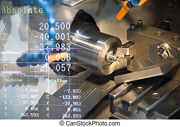 機械, machine), cnc, (turning, 旋盤
