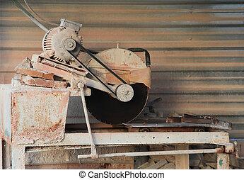 機械, stone-cutting