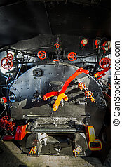 機関室, 機関車, 蒸気