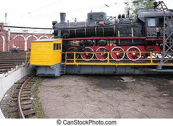 機関車, 博物館, 側, 蒸気
