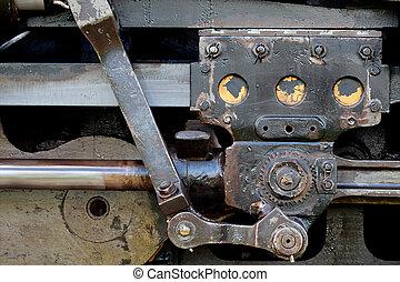 機関車, 棒, カプリング, 蒸気