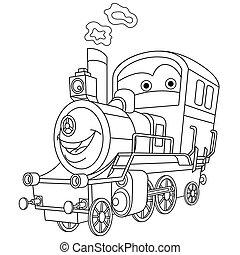 機関車, 蒸気の 列車
