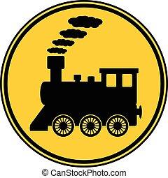 機関車, button.