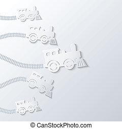 機関車, forward., 蒸気, 動きなさい