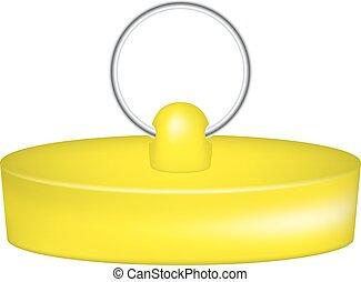 橡膠, 塞子, 設計, 黃色
