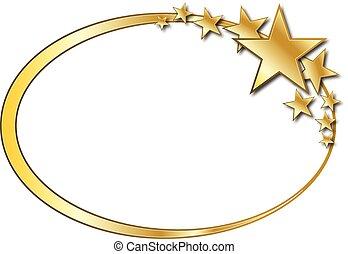 橢圓形, 星, 背景
