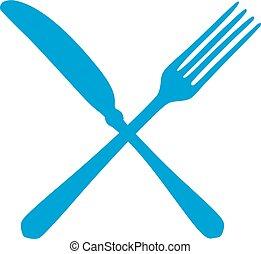 橫渡, 叉子, 以及, 刀