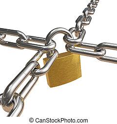 橫渡, 鏈子, 鎖