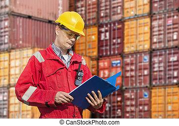 檢查, 碼頭工人, 寄售, 注釋