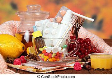 檸檬, 醫學, 蜂蜜, 溫度計