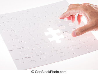 欠けている, ライト, 困惑, ジグソーパズル小片, 白熱