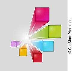次元, 正方形, 3