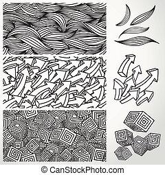 次元, seamless, パターン