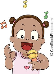 歌いなさい, mic, よちよち歩きの子, イラスト