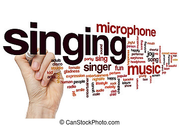 歌うこと, 単語, 雲