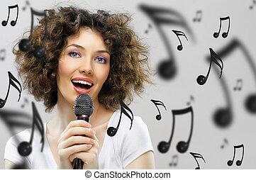 歌うこと, 女の子