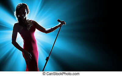 歌手, 女性, ステージ