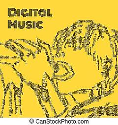 歌手, 音楽, デジタル
