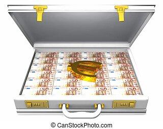 歐元, 以及, 公文包
