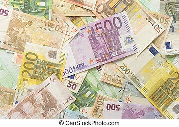 歐元, 賬單